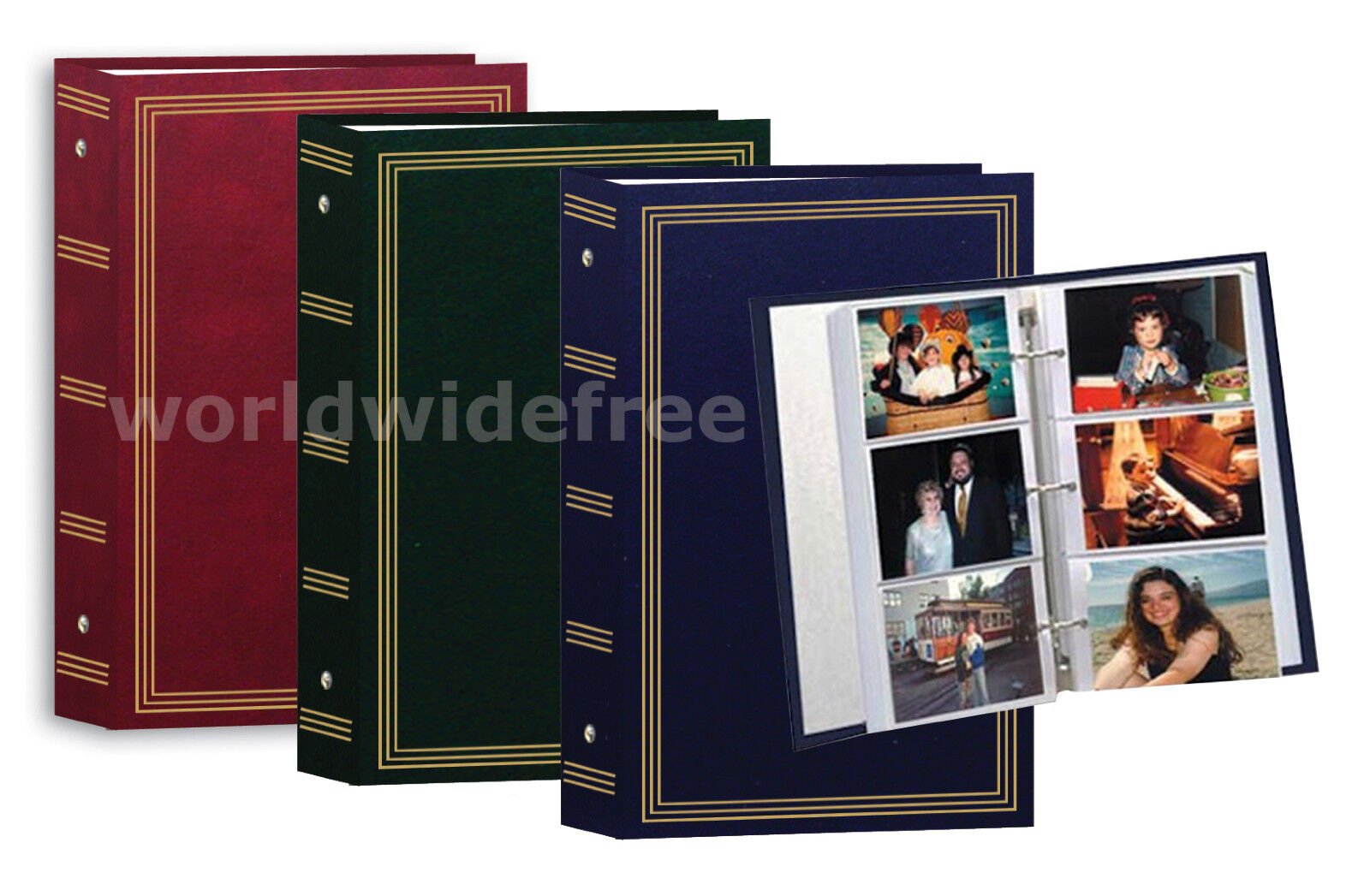 2-pioneer Stc-504 3 Ring Photo Albums Durable Leather Lik...