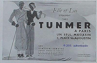 PUBLICITE TUNMER STATION SKI SPORT D