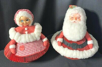 """Vintage Christmas Mr. & Mrs. Santa Claus Pages of Reader's Digest 12"""" ~ AMAZING"""