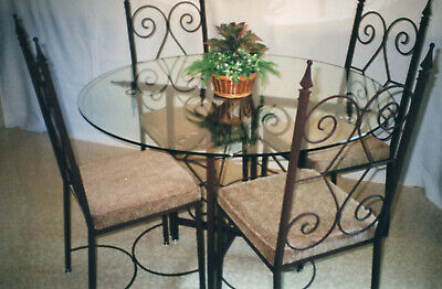 Dinette Table Set Custom Made Wrought Iron