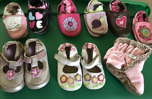 Robeez and Leather shoes size 3-4