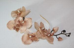 Large Mink Orchid Flower  on Headband - Fascinator - Wedding, Races, Party.