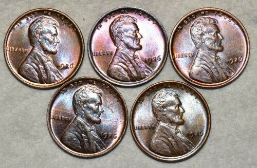 Brilliant Uncirculated 1926-P Lincoln Cent, Beautiful specimens