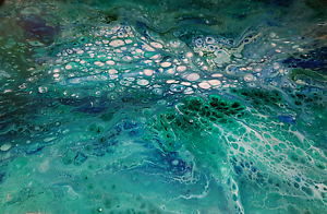 'Beautiful Blue' Resin Art Rose Bay Clarence Area Preview