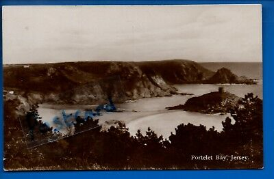 OLD RP POSTCARD PORTELET BAY JERSEY CHANNEL ISLANDS NR ST AUBIN ST BRELADE