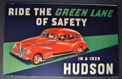 1939 Hudson Sales Brochure Folder 6 Six 112 Country Club Nice Original 39