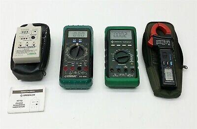 Lot 4 Greenlee 5712r93-606cm-400acm-400ddm-800 Dmm Phase Finder Receiver