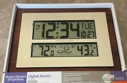 Better Homes and Gardens Atomic Clock with W Forecast Indoor/Outdoor Temperature