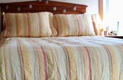 (Comforter set - Croscill, size queen, reversible, & includes curtains and shams)