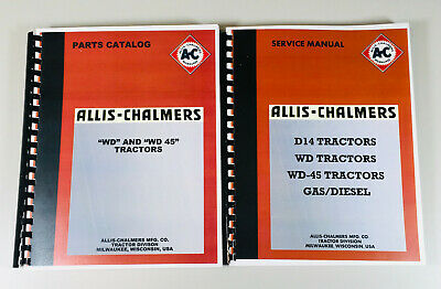 Allis Chalmers Wd Wd45 Tractor Service Repair Manual Parts Catalog Technical