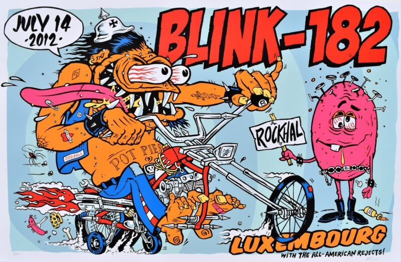 Blink 182 Concert Poster 2012 Luxembourg