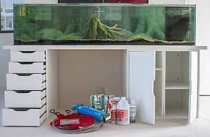Aquarium / Fish Tank, 1.8 m, 350 L, with cabinet & all equipment! Victoria Park Victoria Park Area Preview