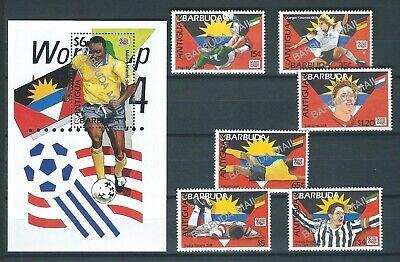 Antigua & Barbuda, 1994, WORLD CUP, BARBUDA MAIL overpr, MNH