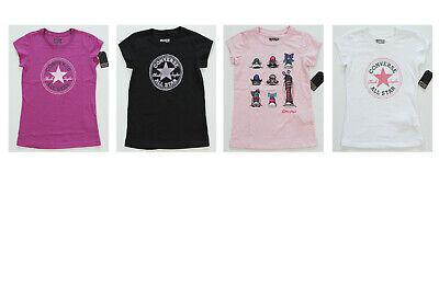 Neu All Star Converse Sport Freizeit T-Shirt Tee Top Girls Mädchen versch.Farben ()
