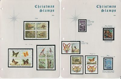 Caribbean Island & New Zealand Christmas 1961 Collection on 3 Pages