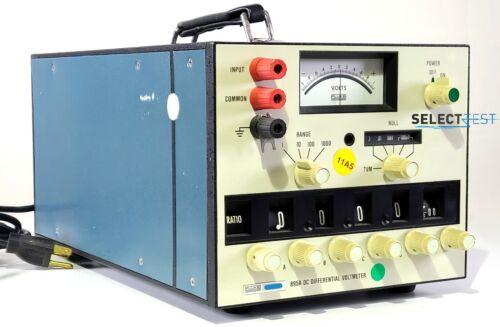 FLUKE 895A DC DIFFERENTIAL VOLTMETER, 0 - 1100 VOLTS ****LOOK**** (REF.: 005G)