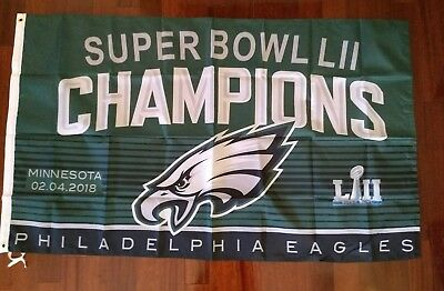 Philadelphia Eagles 3x5 Super Bowl Champions Flag.Free shipping within the US