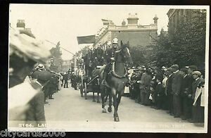 COVENTRY  Lady Godiva Procession  Horse drawn FIRE ENGINE & FIREMEN 1907 RP