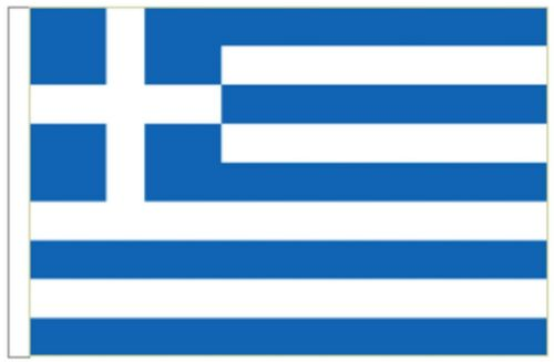 Greece Sleeved Courtesy Flag ideal for Boats 45cm x 30cm