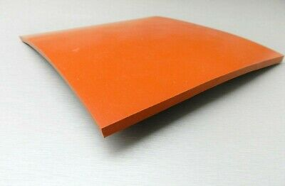 14 Silicone Rubber Sheet High Temp Solid Redorange Commercial Grade 8x8 Sq