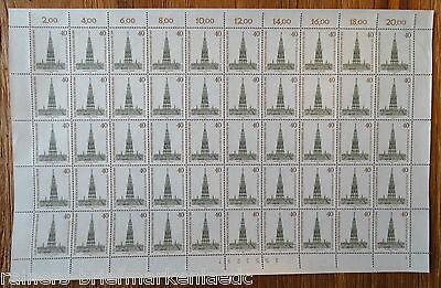 Berlin 640 kompl. Bogen Karl Schinkel postfrisch Full sheet MNH Formnummer 1
