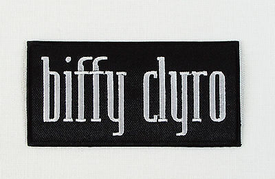 BIFFY CLYRO Embroidered Iron On/Sew On Patch  Rock Band
