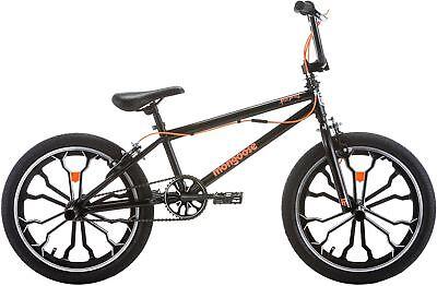 "20"" Boys BMX Bike Single Speed Freestyle Caliper Brakes Mongoose Steel Black"