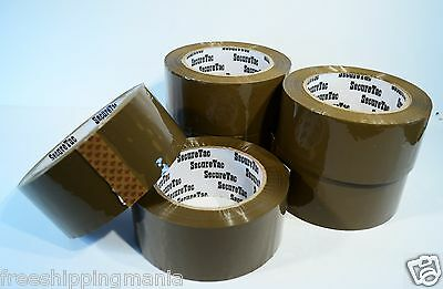 2x110 Yard330packing Packaging Carton Sealing Box Brown Tan Duck Tape 6rolls