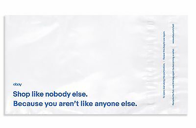 Ebay-branded Polymailer With Blue Print 12 X 15 No Padding