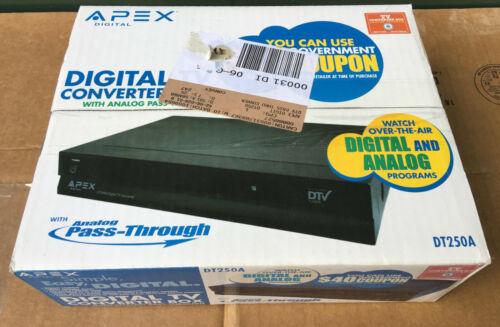 APEX Digital TV Converter Box With Remote Control DT250A analog pass thru