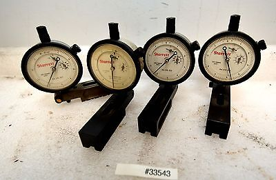 1 Lot Of Four Starrett 25-511 Dial Indicators Inv.33543