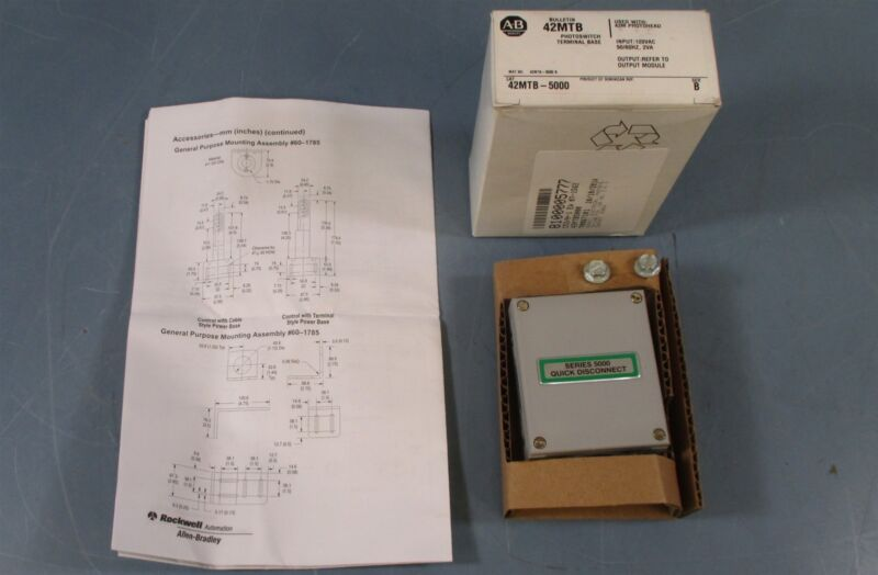 Allen Bradley 42MTB-5000 Photoswitch Terminal Base Series B, 120 VAC Input NIB