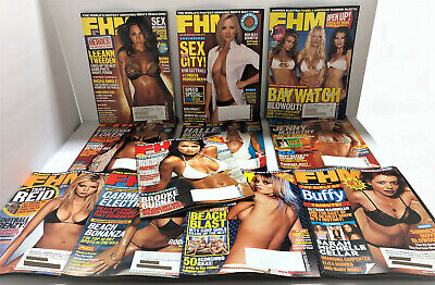 FHM MAGAZINE 11 ISSUES #29 thru #39 – ALL of the YEAR 2003 – LIKE NEW