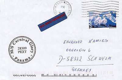 PANAMA CRUISE SHIP MS CARNIVAL GLORY  A SHIPS CACHED COVER