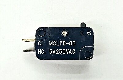 Mulon M8lpb-80 Spst- On-off Micro Switch 5a 250v Ac
