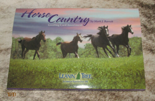 LEANIN TREE Horse Country 20 Greeting Cards~20 different designs~#90740