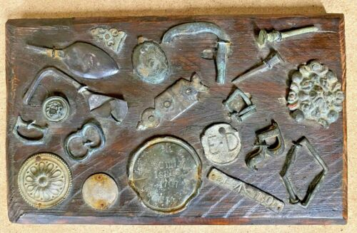 HMS ASSOCIATION  SCILLY ISLES 1707  MOUNTED ORIGINAL RELICS X19 ITEMS RECOVERED