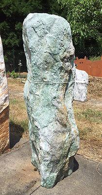 ATLANTIS GRÜN H 104cm Quellstein Naturstein Wasserspiel Steinbrunnen Gartendeko