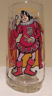 Vintage 1979 Burger King The Duke of Doubt 6'' Glass