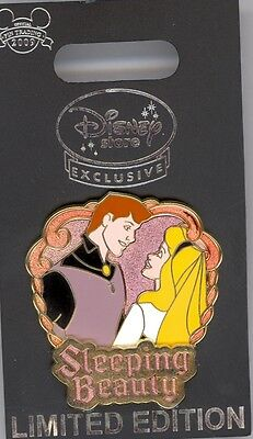 UK Disney Store Sleeping Beauty Prince Phillip & Briar Rose Aurora Romance Pin