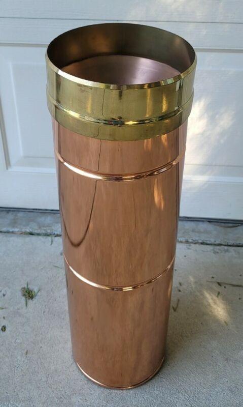 """Antique """"U.S.W.B. UNITED STATES WEATHER BUREAU"""" Brass/Copper 8"""" RAIN GAUGE Rare"""