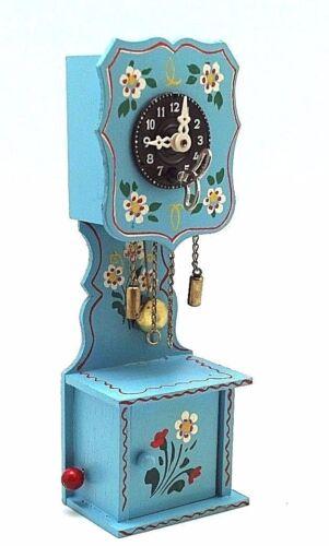 Vintage Handmade Edelweiss Swiss Musical Desk / wall Cuckoo Clock 5303 In Box