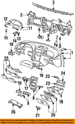 Ford Oem 94 04 Mustang Instrumento Panel Dash Vivienda F4zz15k005e