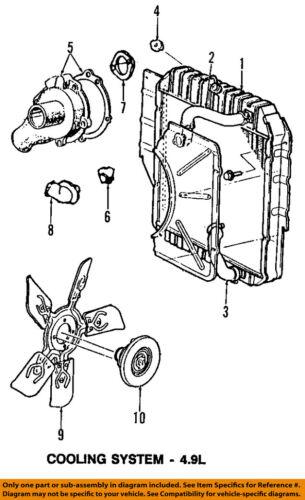 [SCHEMATICS_48ZD]  FORD OEM 92-96 F-150-Engine Coolant Thermostat Housing F5TZ8592BC | eBay | 96 F150 Engine Diagram |  | eBay