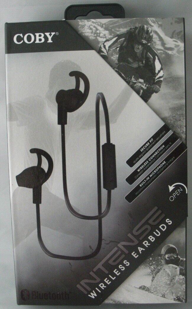 Coby Intense Wireless Black Earbuds CEBT-402-BLK Bluetooth