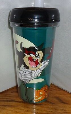 TAZ HALLOWEEN TRAVEL MUG. 16 oz. TASMANIAN DEVIL. SNAP ON TOP. TUMBLER - Taz Halloween