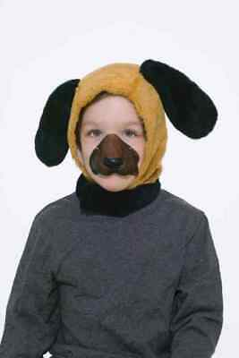 Dog Nose Mask Halloween (Puppy Dog Disguise Kit Brown Animal Mask Nose Halloween Child Costume)