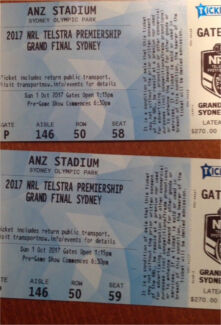 2xNRL Grand Final tickets