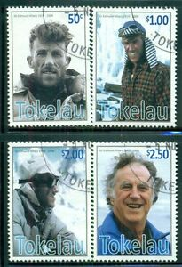 TOKELAU-Sc364-67-SG397-400-Used-2008-Sir-Edmund-Hillary-set-of-4-SCV-10