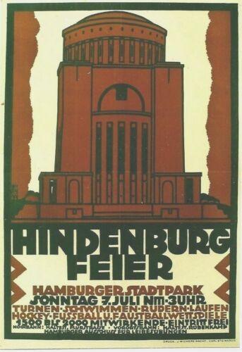 Original vintage poster HINDENBURG FEIER GERMAN WW I 1918